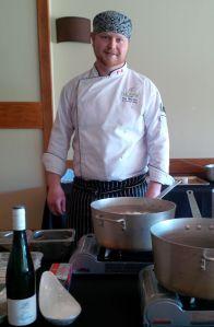 Chef Ron starts the East Coast Chowder