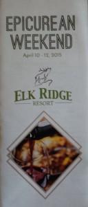 Elk Ridge Resort Epicurean Weekend April 10-12, 2015